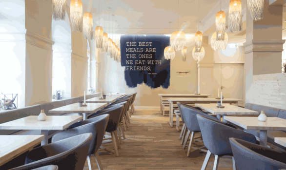 Text-Visual im Raum | Restaurant