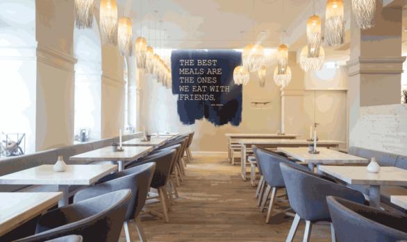 Text-Visual im Raum | Restaurant